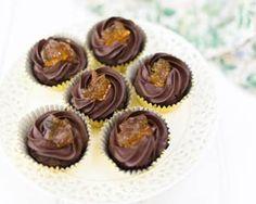 Dark chocolate and marmalade cupcakes recipe