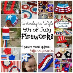 Saturday in Style - 4th of July Fireworks, a crochet pattern round up from String With Style. Both free and paid patterns included
