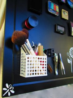 Makeup Organization - Magnetic Makeup Board