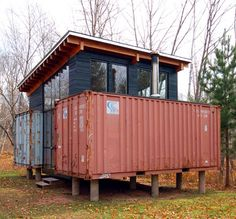 Cargo containers-I have always wanted to do this, but getting those containers . . .where?