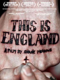 england 2006, movi poster, hand tattoo, cinema, siobhan squir, sean freeman, film posters, type, design