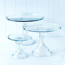 Love these new clear glass cake stands. http://www.donnahay.com.au/shop-online/kitchen/clear-glass-cake-stand