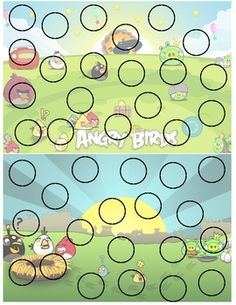 FREE Angry Birds incentive punch card.
