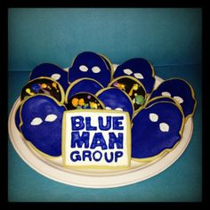 These Blue Man Group cookies look tasty! What a great treat for the opening night performance of Blue Man Group coming to the Sacramento Community Center Theater March 11 - 16, 2014. http://www.californiamusicaltheatre.com/events/blue-man-group/