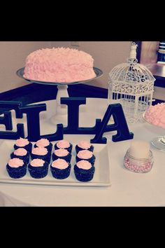 Shabby chic first birthday party for a girl.