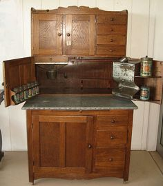 Hoosier Kitchen Cabinet from tradingplaceantiques on Ruby Lane
