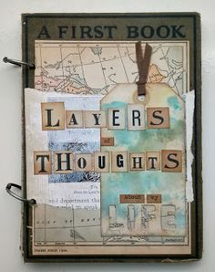 Layers of Thoughts altered book art journal