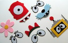 Yo Gabba Gabba photo booth props. These are so awesome!