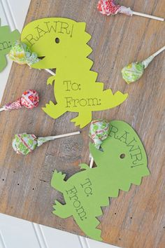 Dinosaur Classroom Valentines with Cricut, an easy DIY craft idea for Valentine's Day