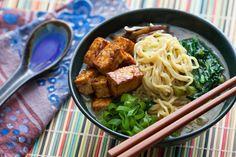 Miso & Shiitake Ramen with Hoisin-Glazed Tofu