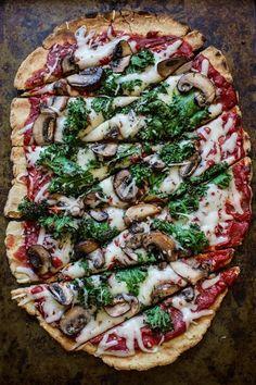 Grilled (gluten-free!) pizza