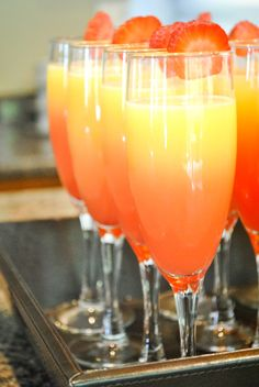add a splash of grenadine for color in your mimosa