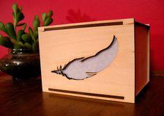 Wood Box Lamp or Night Light  Modern Design LIGHT by portrhombus, $24.00