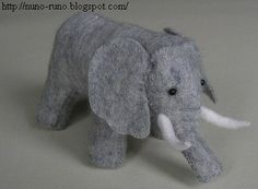 Stuffed elephant WITH pattern