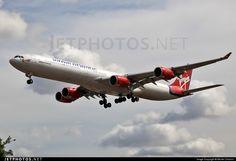 Airbus A340-642 G-VFOX 449 London Heathrow Int'l - EGLL