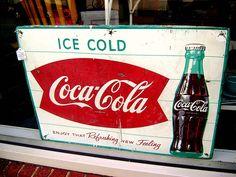 antique coca cola signs