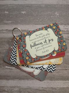 Scripture cards!  A lovely gift idea.  I know I want some.
