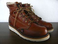 """Very gently pre-loved Thorogood 6"""" plain toe boots just added to the eBay shop."""
