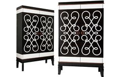 Marquetry cabinets by Jonathan Baring Furniture