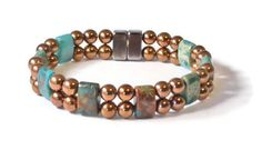 Impression Jasper and Copper Metallic Magnetic by BeadsNStyle, $34.00