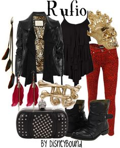 I. LOVE. Hook!!! :D This outfit brought back so many happy memories. Not sure if I would wear red leopard pants, though.