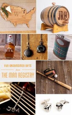 8 fun groomsmen gifts that the guys of your wedding party will truly love.