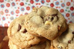 America's Test Kitchen Chocolate Chip Cookies. The secret it browning the butter. Always turn out great.