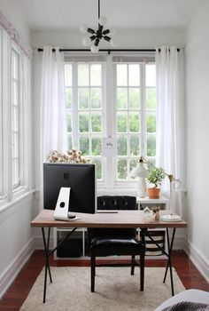Cozy and elegant neutral home office