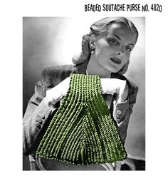 triangle shaped purse to crochet from 1945.  OMG i want to make this . . . !