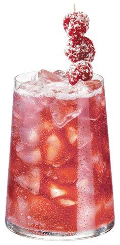 PAMA Kiss:  2 oz. Vodka 2 oz. Skyy raspberry vodka 1.5 oz. Soho lychee 1 oz. Sake 1 oz. Triple Sec .5 oz. Black raspberry liqueur Equal parts pineapple juice, lemonade and lemon lime soda