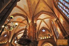 Inside the Matthias Church in Budapest Hungary