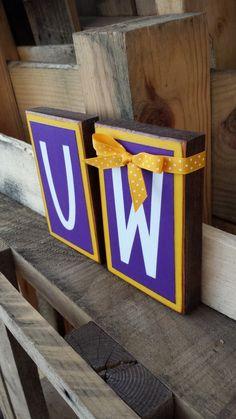 University of Washington Blocks.... Huskies by BountifulCrafts, $8.00