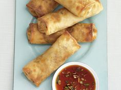 Baked Spring Rolls Recipe : Food Network - FoodNetwork.com