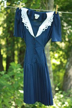 """New arrival: Vintage Polka Dot Riccardo E. Barone Dress Receive $5 off any Typographie Vintage order over $10 with coupon code """"CHILL"""""""
