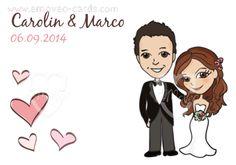 Partecipazioni matrimonio personalizzate con caricatura degli sposi in stile fumetto! #partecipazioni #matrimonio #sposi #caricatura www.emoveo-cards.com