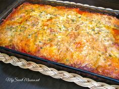 My Cheese Ravioli Lasagna has layers of cheese ravioli in a savory sauce and two different cheeses, all melted together into one incredible dish! Recipe at My Sweet Mission: http://www.my-sweet-mission.com/2014/03/cheese-ravioli-lasagna.html #Pastarecipes #Raviolirecipes
