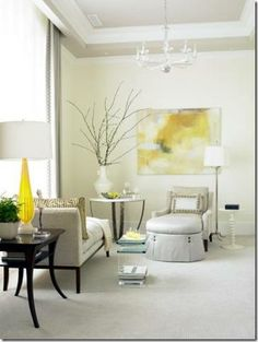 serene yellow and gray room