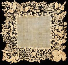 Antique Irish lace crochet, circa 1850