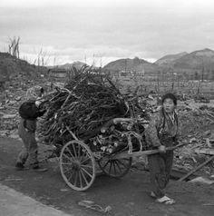 Nagasaki in ruins, 1945