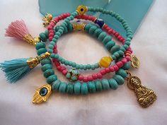 SALE BOHEMIAN YOGA Bracelets Buddha BraceletChakra by Nezihe1, $21.99