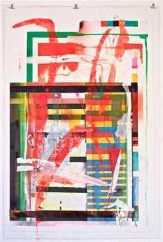 Mathieu Wernert, paintings, colors, strokes, abstract