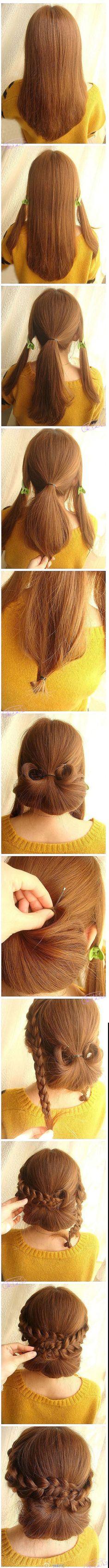 Simple to Make Hairstyles. . . Make Bun in Fun