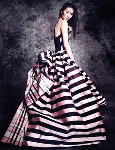 liu wen, fashion, vogu thailand, dress, christian lacroix, octob 2013, gown, thailand octob, haute couture