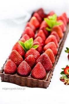 Chocolate Tart with Strawberries
