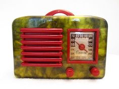 Vintage General Television Art Deco Old Bakelite Radio