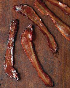 die happi, mapl glaze, glaze bacon, mapleglaz bacon, martha stewart, bacon recip, turkey bacon