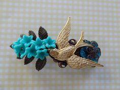 Blue Bells Hair Barrette by wynbrit on Etsy, $28.00