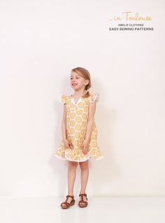 Vintage toddler A line DRESS pattern  easy by AmelieClothing