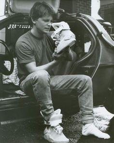 Primero soñé con el sable de luz de Star Wars,  después con el skate y estas zapatillas de Volver al futuro.