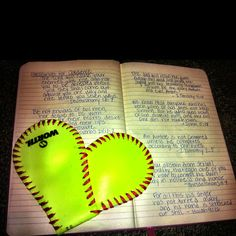 Diy softball craft  == valentines day. I would love it if someone gave me this!!!